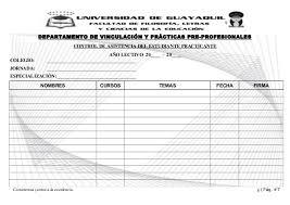formato de asistencias fichas de estudiantes para las practicas 2013 3