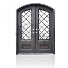 wrought iron exterior doors. Autumn - Double Arch Wrought Iron Exterior Doors