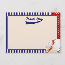 Baseball Thank You Notes Zazzle Com