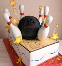 Bowling Pin Cake Decorations Bowling Party Ideas retro modern by a Professional Party Planner 50