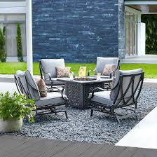 patio furniture conversation set outdoor patio set with fire pit gas patio table patio set with