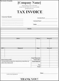 Tax Invoice Template Word Doc 47 Sample Optional Us Batayneh Me