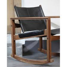 leather rocking chair peglev by obj