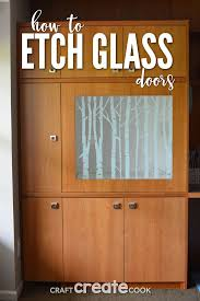 i ll show you how to etch glass door panels for your home kitchen or office with the silhouette cutting machine and an extra large vinyl stencil