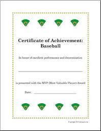 Sports Certificates Baseball Abcteach