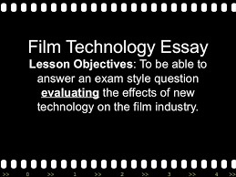 film technology essay