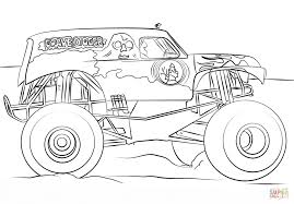 monster jam printable coloring pages