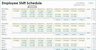 Shift Scheduling Excel Shift Schedules Templates Lovely Weekly Employees Duty Roster Format