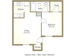 What Is The Average Size Of A One Bedroom Apartment Square Footage Of A 1  Bedroom