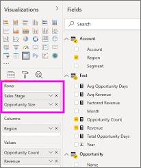 Use The Matrix Visual In Power Bi Power Bi Microsoft Docs