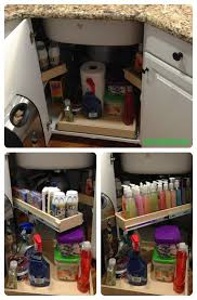 Optimize the space under your #corner #sink with strategically placed pull  out #shelves