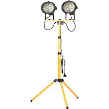 Tripod Site Light Double 1000w 240v Faithfull 1000w Halogen Twin Site Light Tripod Work Lights