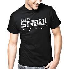 Let It Snow Schnee Spruche Spruch Party Fun S 3xl T Shirt Mens