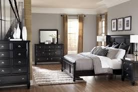 Set Bedroom Furniture 4 Piece Panel Bedroom Set In Black