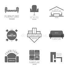 popular furniture stores logos.  Logos Download Logo Badge Or Label Inspiration With Furniture For Shops  Companies Advertising And Popular Stores Logos G