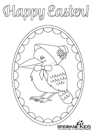 Easter Colouring Pages Aussie Themed Brisbane Kids