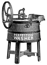 washing machine clipart black and white. old catalogue ad, vintage laundry clip art, antique washing machine illustration, free black and white clipart, clothes washer graphics más clipart