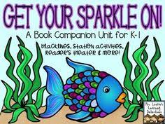 get your sparkle on rainbow fish literacy math this pack is perfect for a book