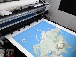 printing a wallsized world map