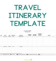 trip planner templates 9 useful travel itinerary templates that are 100 free travel