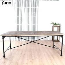 industrial furniture wheels. Industrial Style Furniture Wheels Recycled Wood Dinner Table Vintage Dining Tables With