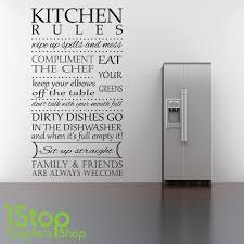 kitchen rules wall sticker  on wall art kitchen rules with kitchen rules wall sticker quote kitchen heart home wall art decal