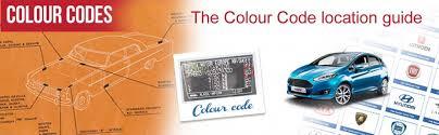 Colour Code Chart Find Paint Codes For Cars Car Colour