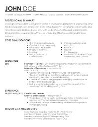 Internship Engineering Resume Resume For Study