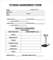 Sample Assessment Form Fitness Assessment Form Template Pin Fitness Assessment Sheet On