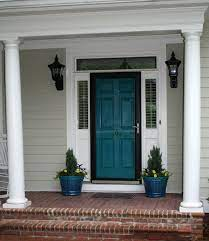 Black and charcoal grey front doors can increase a home's resale value by more than $6,000.it's a classic and modern choice that draws a beautiful contrast from all but black home exteriors, attracting buyers' eyes to the entry. Teal Front Doors Door Color Black Screen Door