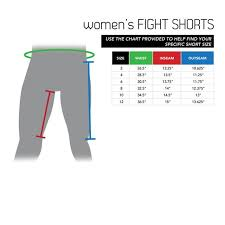 Cage Fighter Shorts Size Chart Size Chart Womens Fight Shorts Century Martial Arts