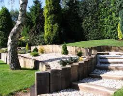 garden design using sleepers. daniel u0026 nicolau0027s landscaping with oak railway sleepers garden design using e