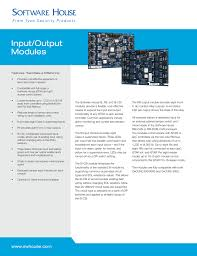 input output modules provides cost effective expansion of input and output capacity • compatible full range of software house istar and apc access control panels