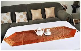 lal haveli designer orange silk table