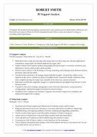Sample Help Desk Analyst Resume IT Support Analyst Resume Samples QwikResume 56