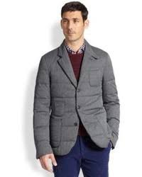 Moncler Gamme Bleu Quilted Twill Jacket Grey | Where to buy & how ... & ... Slowear Quilted Blazer Adamdwight.com