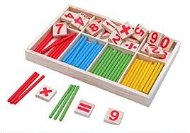 Wooden Math Games Montessori Wooden Number Math Game Sticks Box Set Materials 65
