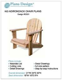 adirondack chair plans. Fine Chair Child Adirondack Chair Woodworking Plans Full Sized Patterns ODF21 Intended Plans R