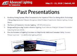 Advanced Lighting For Automotive A Collection Of Past Presentations From General Motors