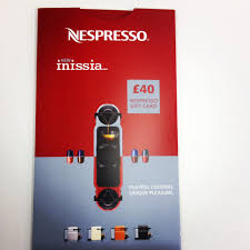 in now claim a 40 nespresso giftcard when you purchase a nespresso machine