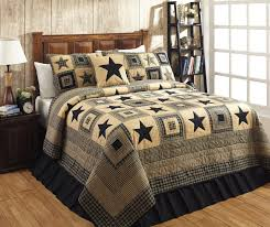 Find your home decor at the best prices guaranteed! – Primitive ... & Colonial Star Black Quilt Bundle in 4 SIZES Adamdwight.com