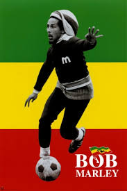 Bob Marley Soccer Rasta Poster