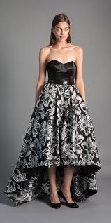 Elegance Designer Wear Maison Elegance Haute Couture Hi Low Brocade Floral Gown