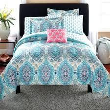 paisley bedding set mainstays coordinated girls room twin new blue quilt