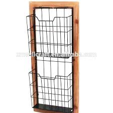 magazine rack office. Hanging Magazine Rack Office Furniture Metal Wire Wall Holder Mounted N