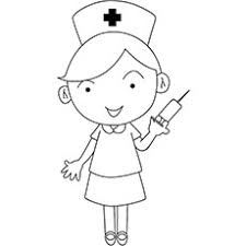 nursing coloring pages. Nurse With The Syringe In Her Hand Coloring Pages Inside Nursing