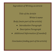 Write Your Own Newspaper Article Template Article Writing Format Objective Steps Concepts Videos