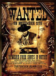 17 Western Wanted Poster Templates Free Printable Sample