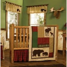 rustic crib furniture. northwoods baby bedding crib set 4pc rustic cabin country bear furniture