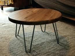 industrial furniture legs. Wood Coffee Table Rustic Round Legs Elegant Vintage Industrial Furniture